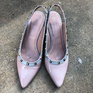 dorking Shoes - Dorking 7019 Blush Kitten Heels with studs 39